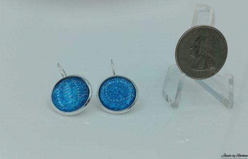 bermuda blue glitter earrings