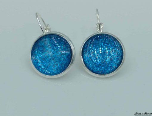 glitter earrings bermuda blue