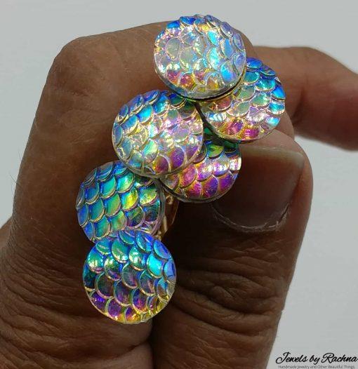 wedding hairpins rainbow