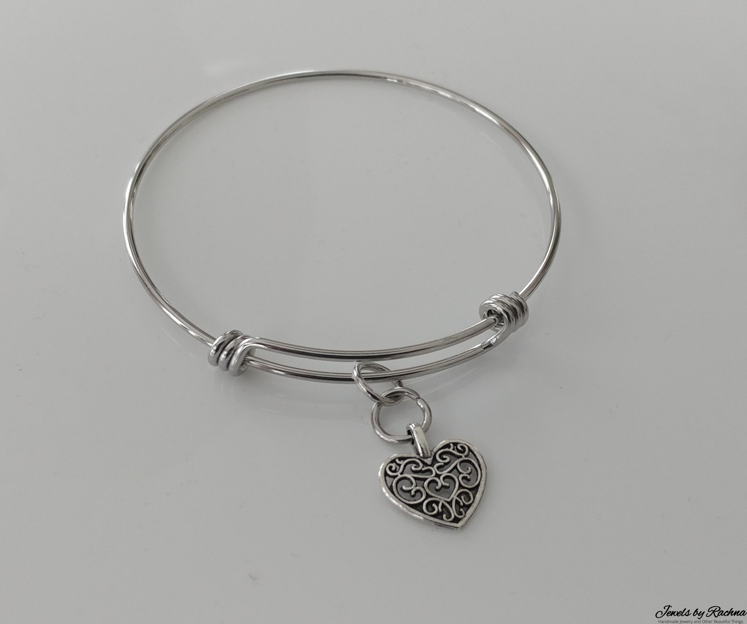 slider and butterfly clasp bracelet adjustable personalised bracelets bangles handstamped bangle